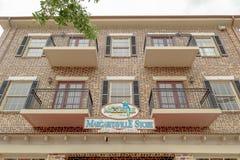 Loja do Margaritaville de Jimmy Buffett em Falmouth Jamaica foto de stock