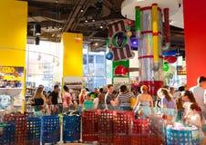 A loja do mundo de M&M nos Times Square, Manhattan Imagem de Stock