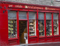 Loja do Natal do YE Olde em Edimburgo Imagens de Stock