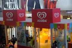 Loja do prazer do magnum de Algida em Roma Fotos de Stock Royalty Free