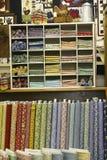 A loja do Quilt Imagens de Stock Royalty Free