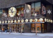 A loja do relógio de Tourneau na 57th rua em Manhattan New York Imagem de Stock