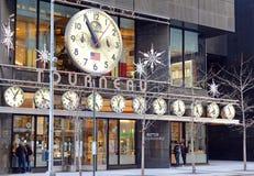 A loja do relógio de Tourneau na 57th rua em Manhattan New York Fotos de Stock Royalty Free