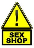 Loja do sexo Sinal de aviso ilustração royalty free