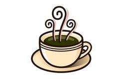 Loja do vapor do copo de café do café fotos de stock royalty free