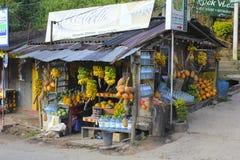 A loja do vendedor cingalês Imagem de Stock