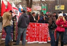 Loja do ventilador da equipe de futebol de Spartak Imagem de Stock