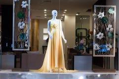 Loja do vestido de casamentos Foto de Stock Royalty Free