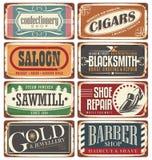 A loja do vintage assina a coleção Imagens de Stock