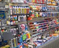 Loja dos artigos de papelaria. Imagem de Stock