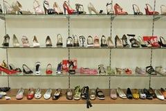 Loja dos calçados Fotos de Stock