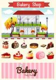 Loja e sobremesas da padaria Fotografia de Stock