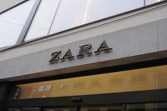 LOJA ESPANHOLA DA CORRENTE ZARA Imagem de Stock