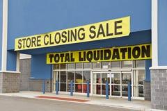 A loja falido revisou (1) fotografia de stock royalty free