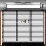 Loja fechada Imagem de Stock