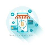 Loja global móvel Imagem de Stock