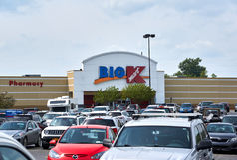 Loja grande e logotipo de Kmart Imagens de Stock
