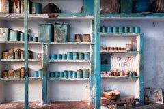 Loja indiana tradicional da rua Foto de Stock