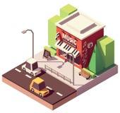 Loja isométrica do instrumento musical do vetor Imagem de Stock Royalty Free