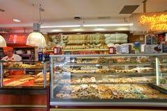 Loja italiana da padaria foto de stock