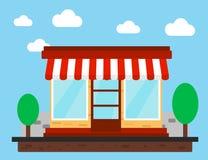 Loja, loja ou mercado Front View Flat Design Fotografia de Stock