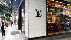 Loja luxuosa de Louis Vuitton filme