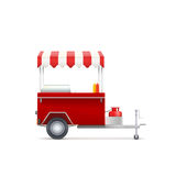Loja móvel do fast food Fotografia de Stock Royalty Free