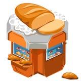 Loja para o pão fresco e as pastelarias da venda ilustração do vetor