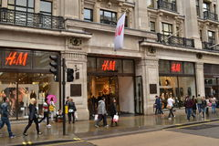 Loja Regent Street London de H&M Imagem de Stock Royalty Free