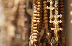 Loja religiosa dos artigos Fotografia de Stock Royalty Free