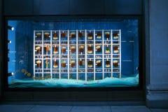 Loja Selfridges em Oxford Street em Londres, decorada para o termo do outono fotografia de stock royalty free