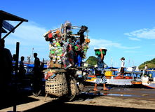 Loja tiy móvel em Labuan Bajo Flores Foto de Stock