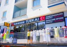 Loja turca da roupa Imagem de Stock