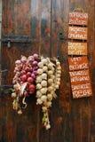 Loja vegetal italiana da parte externa da exposição Imagens de Stock