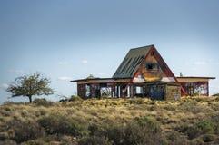 Loja velha de Kamp encontrada ao longo de Route 66 velho no Arizona imagem de stock