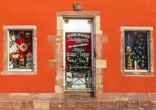 Loja Windows do Natal Imagens de Stock Royalty Free