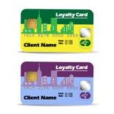 Lojalitetkort royaltyfri illustrationer
