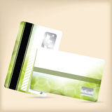 Lojalitetkort med grön bubblabakgrund Fotografering för Bildbyråer