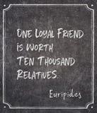 Lojalnego przyjaciela Euripides wycena obrazy stock