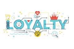 Lojalności słowa literowanie Obrazy Royalty Free