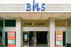 Lojas britânicas da casa que fecham-se para baixo Imagem de Stock Royalty Free