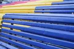 Lojas coloridas em Chisinau, Moldova Imagens de Stock