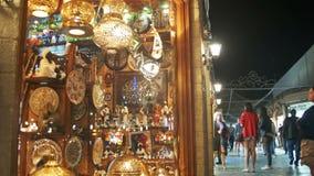 Lojas com os bens asiáticos no quadrado de Soho, Sharm el Sheikh, Egito vídeos de arquivo
