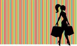 Lojas das mulheres ilustração royalty free