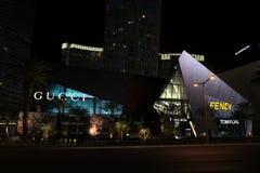 Lojas de Gucci e de Fendi, Las Vegas, nanovolt Fotos de Stock Royalty Free