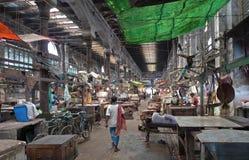Lojas do novo mercado - Kolkata (Calcutá, India, Ásia) Imagem de Stock