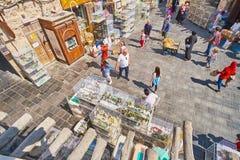 Lojas do telhado, Doha do mercado dos pássaros, Catar Foto de Stock Royalty Free