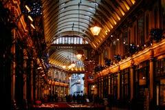 Lojas e bares do mercado de Leadenhall Imagens de Stock Royalty Free