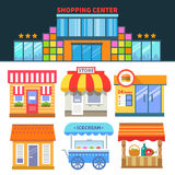 Lojas e comércio ilustração stock