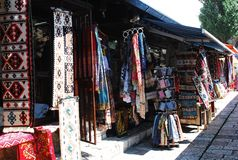 Lojas em Bascarsija, Sarajevo Fotografia de Stock